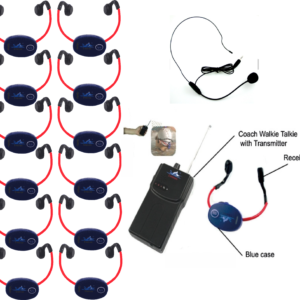 Pack 12 casques + 1 Talkie Walkie