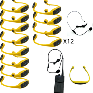 Pack 12 casques + Talkie Walkie
